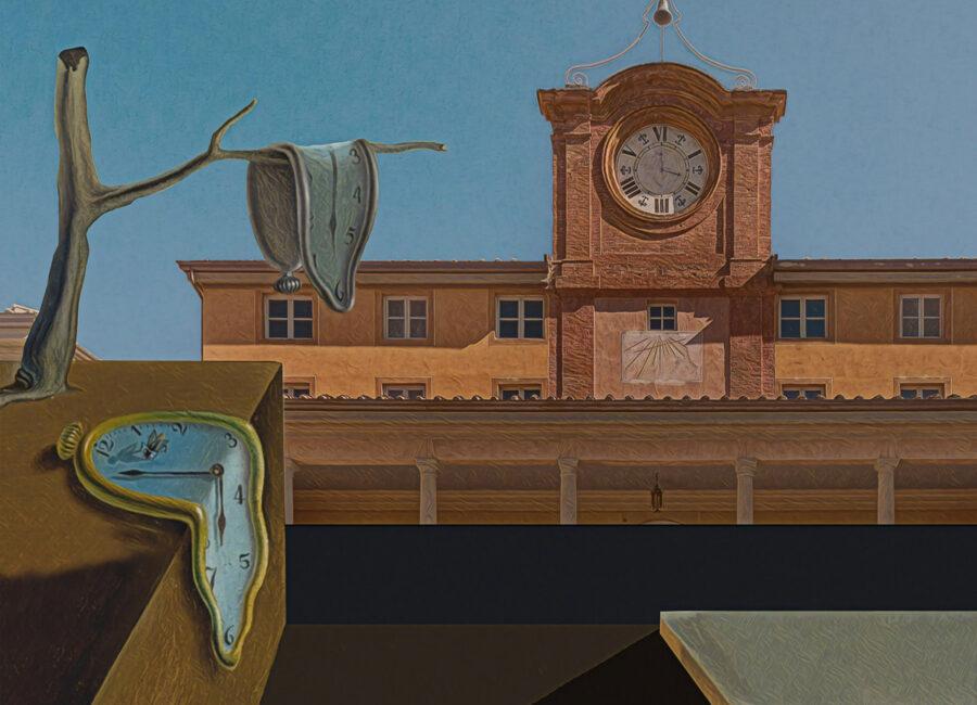 Palazzina dell'Orologio Villa Reale di Marlia - dipinto Dalì