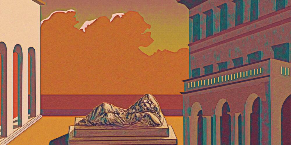 Villa Reale di Marlia - dipinto De Chirico